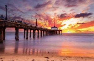 Ocean sunrise in California